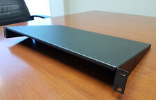 "N E W - 19"" INCH 1RU 1/16 THICK METAL SHELF 1 SPACE FOR STD RACK MOUNT (1 3/4H)"