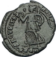 VALENS 364AD Lugdunum Lyons Authentic Ancient Roman Coin VICTORY ANGEL i65766