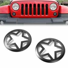 2Pcs Front Turn Signal Light Cover Guard For Jeep Wrangler JK JKU 2007-2018