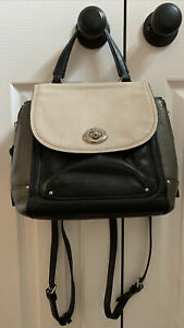 Coach pebble leather Faye mini backpack with turnlock F31506