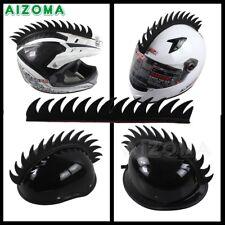 Motorcycle Dirtbike Ski Helmet Mohawk - Racing Helmet Spikes Soft Rubber Black