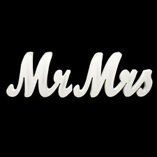 Mr Mrs 3D Wedding Wooden Sign Wood Letters Decor Decoration Table Top Standing