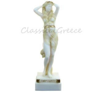 """Statue Ancient Greek Goddess Aphrodite Alabaster 9"""" - 23cm Cast Marble Mythology"""