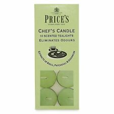 PRICES Scented Chefs Candle Tealights Candles 10 Pack Eliminates Odours Smells