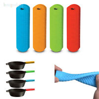 2PCS Kitchen Silicone Hot Handle Holder Lodge Pot Sleeve Cover Grip Pan Holder