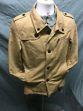 NIAN JEEP Mens Outdoor Cotton Jacket Loose Casual Multi-pocket Coat - M - TAN