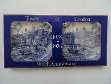 """Johnson Bros Pin Dish boxed set Tower of London 900th Anniversary 1078-1978. 4""""."""
