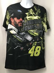 Jimmie Johnson Multi-color Sublimated Lowe's Nascar Racing T-Shirt Sz L