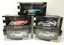Collection of 5 Porsche Racing Models 1:43 Scale Minichamps & Onyx