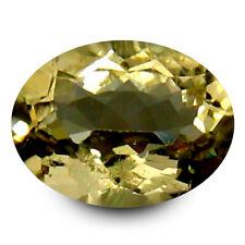 0.70 ct AAA Splendid Oval Shape (7 x 5 mm) Yellow Heliodor Beryl Gemstone