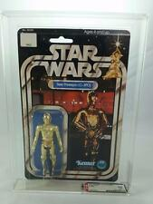 VINTAGE KENNER C-3PO 12 BACK 3 INCH ACTION FIGURE ARCHIVAL AFA 70 (C70 B80 F75)