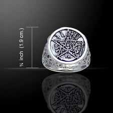 Seal of Solomon Tetragrammaton .925 Sterling Silver Ring by Peter Stone
