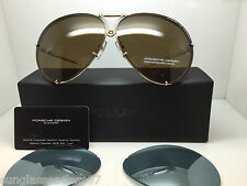 PORSCHE DESIGN P8478 A 6910 69MM GOLD/BROWN LENS  135 V574 E89