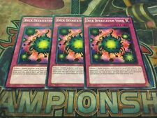 Yu-Gi-Oh Deck Devastation Virus SDGU-EN033! Common! 1st! X3! Played
