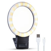 36 LED Rechargeable Selfie Ring Camera Fill Light 3 Modes Night Lamp For Phone