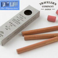NEW Traveler's company Pencil refill (3refill + 2erasers) for Brass Pen Holder