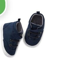 Gap Baby Boy High-Top Trainers Sneakers Shoes Suede Navy Blue 12-18 Months NWB
