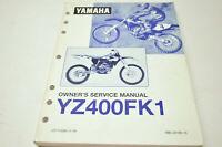 OEM Yamaha LIT-11626-11-19 YZ400FK1 Owner's Service Manual