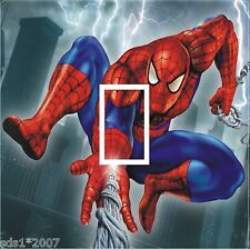SPIDERMAN LIGHT SWITCH COVER STICKER DECAL  - HD DIGITAL PRINTED SPIDERMAN & WEB