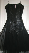 PHASE EIGHT 14 - SEQUINED NET - STRAPPY LINED DRESS - BNWT - (RRP 224 EURO)