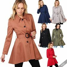 Women's Cotton Knee Length Trench Coats, Macs Coats & Jackets