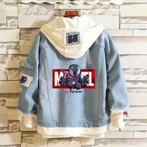 Avengers Denim Jacket Super Hero Hoodie Casual Bomber coat Sweatshirts jean coat
