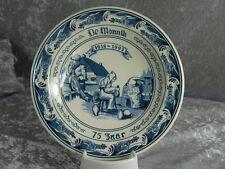 Royal Goedewaagen Keramik Blue Delfts Oud Blauw Schale Wandteller De Monnik