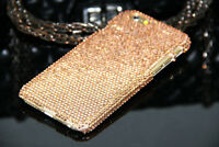 Bling Champagne Gold Diamond Crystal Case Hard Cover For iPhone 6 6s 7 8 Plus X