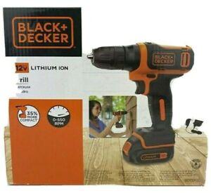 BLACK+DECKER 12V MAX Cordless Drill / Driver BDCDD12C KIT NEW!