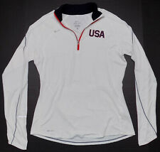 Nike USA Elements 1/4 Zip Long Sleeve Running Top Womens Size Large
