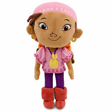 """Disney Store Authentic Jake & the Never Land Pirates Izzy Plush Toy Doll 11"""" NWT"""