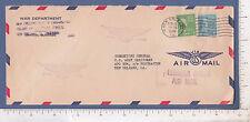 9864 Envelope 1949 Commanding General US Army Caribbean War Dept New Orleans, LA