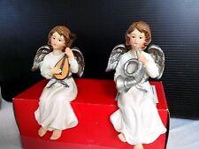 Kantensitzer Engel mit Instrument Naturfarben 2 Stück Art 2122