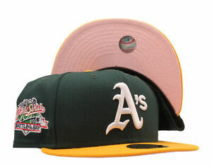 New Era 59Fifty MLB Oakland Athletics 1989 World Series Fitted W/ Pink Bottom