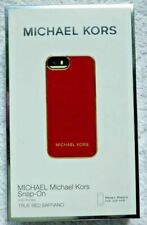 Micheal Kors  Snap on IPhone 5, 5C, 5S & SE Case, True Red Saffiano, Free P&P