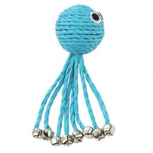 Lovely Dog And Cat Bell Ball Toy Paper Rope And Iron Bells