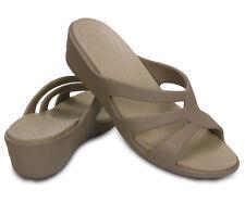Crocs Sanrah Strappy Zeppa Donna Sandali Croslite Platino 38-39