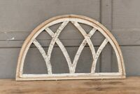 Half Moon Farmhouse Window Wall hanging, Architectural Wood Window Frame