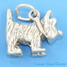 WIZARD OF OZ TOTO CAIRN TERRIER DOG 3D .925 Solid Sterling Silver Charm Pendant