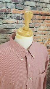 NWOT Brooks Brothers 346 Red Stripe Button Up NONIRON Reg Fit Dress Shirt 17 2/3