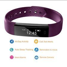 Smart Fitness Tracker Watch purple Bracelet Wristband Fit Bit For Women Men Kids