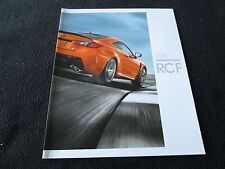 2016 Lexus RCF Brochure RC-F Performance Sport Model, RWD V8 5.0 Sales Catalog