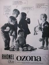 PUBLICITÉ 1967 LAYETTE OZONA POUR BÉBÉ - RHONEL - ADVERTISING