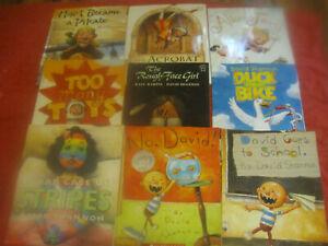 Lot of 9 Books by David Shannon Childrens Picture Books No David Alice Fairy