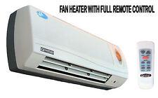 2.5Kw Garage Wall Fan Heater, 2 Heat Settings, Remote Control, Ceramic