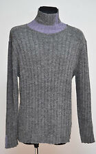 MENS OTTO KERN JUMPER SWEATER WOOL BLEND CHUNKY GREY SIZE XL XLARGE EXCELLENT