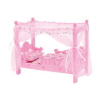Baby Doll Pink Canopy Baby Doll Crib with Bedding 13.98 x 7.48 x 11.81 inch