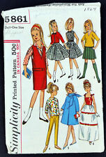 "Vintage 1964 Simplicity 9"" Skipper Doll Clothing Clothing Complete Original Real"