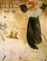 Frontispiece by Toulouse Lautrec Giclee Fine ArtPrint Repro on Canvas