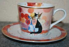 Goebel R. Wachtmeister Kaffeetasse / Tasse mit Untertasse Primavera NEU